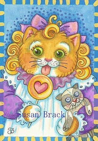 Art: PURRS AND KAT LICKS by Artist Susan Brack