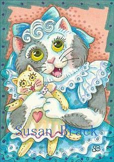 Art: RAG DOLL KITTEN by Artist Susan Brack