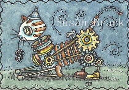 Art: STEAMPUNK TABBY by Artist Susan Brack