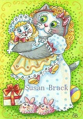 Art: CHRISTMAS DOLLY by Artist Susan Brack