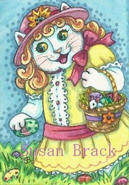 Art: EASTER EGG HUNT by Artist Susan Brack