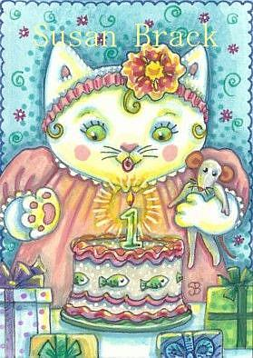 Art: FIRST BIRTHDAY by Artist Susan Brack
