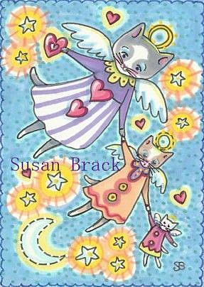 Art: PURR ANGELS by Artist Susan Brack