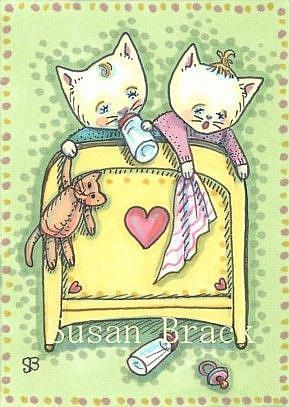 Art: THE TWINS by Artist Susan Brack