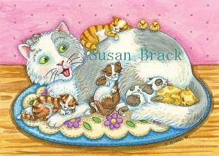 Art: CAT NAPZZZZZ by Artist Susan Brack