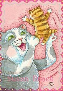 Art: KITTEN TOSS by Artist Susan Brack