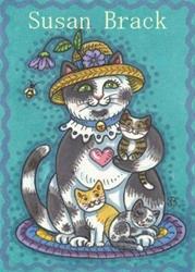 Art: PUSSYCAT KITTENS by Artist Susan Brack