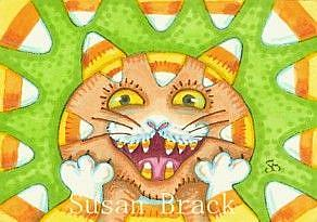 Art: CANDY CORN CRAZY by Artist Susan Brack