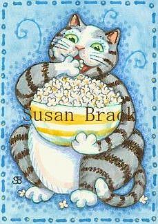 Art: CAT CARBS by Artist Susan Brack