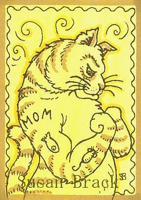 Art: WHEN GOOD CATS GO BAD by Artist Susan Brack