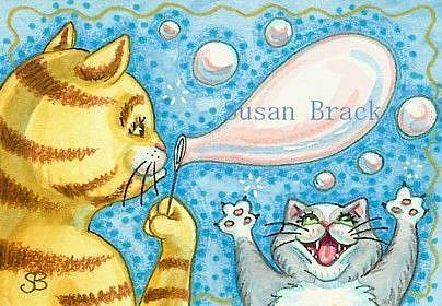 Art: BUBBLES GALORE by Artist Susan Brack