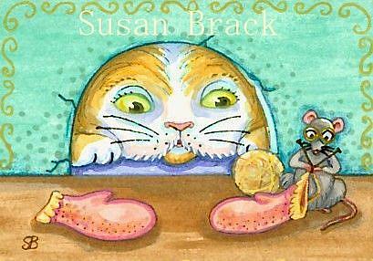 Art: MITTEN FOR A KITTEN by Artist Susan Brack