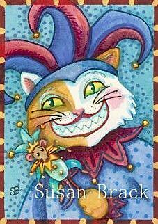 Art: JACK THE CAT IS A JOKER by Artist Susan Brack