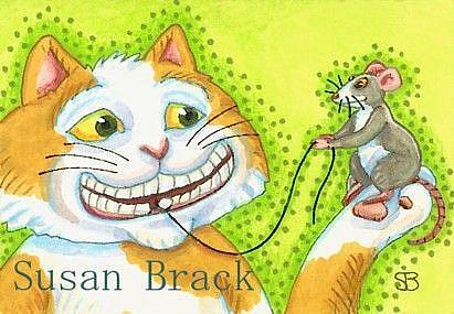 Art: HELP FROM A FRIEND by Artist Susan Brack