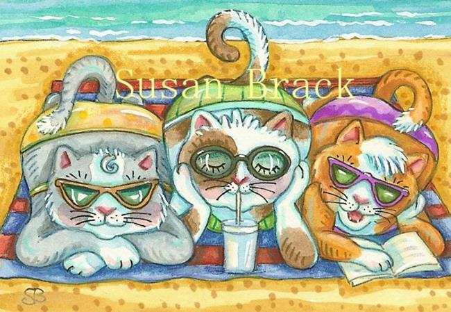 Art: Day At The Beach Series - BEACH BABES by Artist Susan Brack