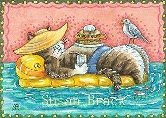 Art: Day At The Beach Series - ALWAYS A COOL CAT by Artist Susan Brack