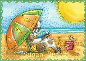 Art: Day At The Beach Series - SAND BOX RESORT by Artist Susan Brack