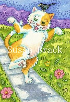 Art: DON'T STEP ON THE CRACKS by Artist Susan Brack