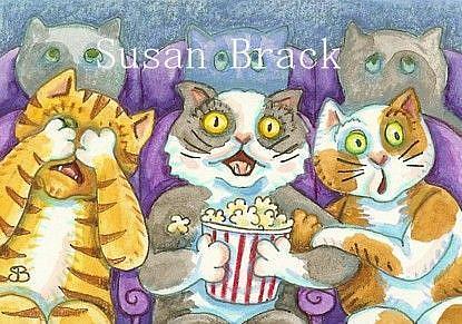 Art: SCARY MOVIE by Artist Susan Brack