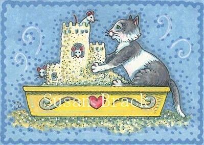 Art: CAT LITTER CASTLE by Artist Susan Brack