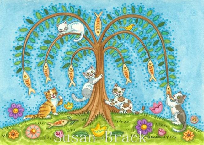 Art: IF FISH GREW ON TREES by Artist Susan Brack