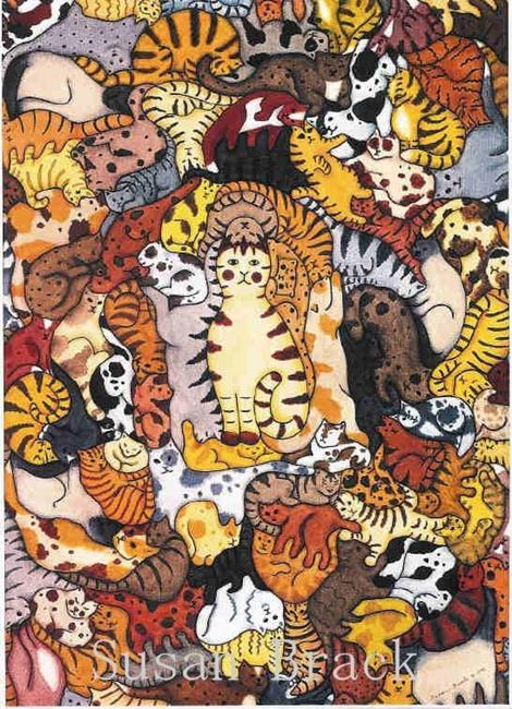 Art: STEAMROLLER KATS by Artist Susan Brack