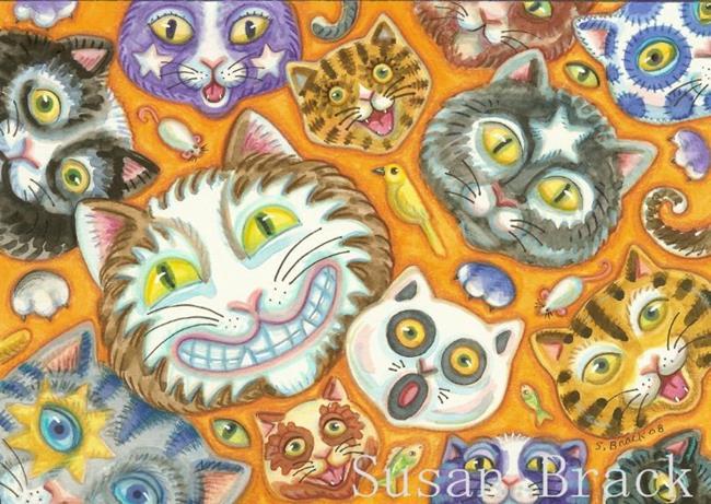 Art: CAT SOUP by Artist Susan Brack
