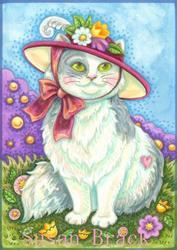 Art: KITTEN IN A RED HAT by Artist Susan Brack