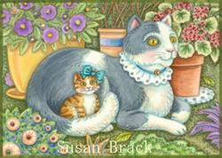 Art: BELLA AND KATERINA by Artist Susan Brack