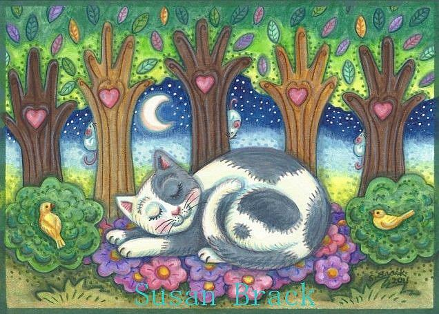 Art: LAND OF CAT NAPS AND DREAMS by Artist Susan Brack