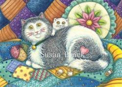 Art: PURRS AND PATCHWORK by Artist Susan Brack