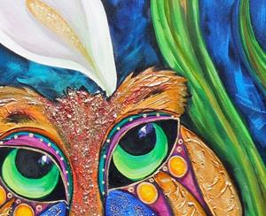 Detail Image for art Winston and Eleanor Cats 30X40