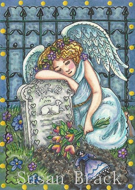Art: WHEN ANGELS WEEP by Artist Susan Brack