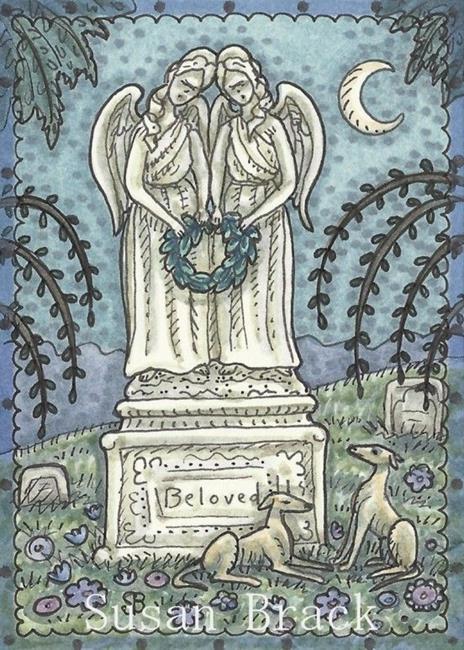 Art: TWINS ETERNAL by Artist Susan Brack