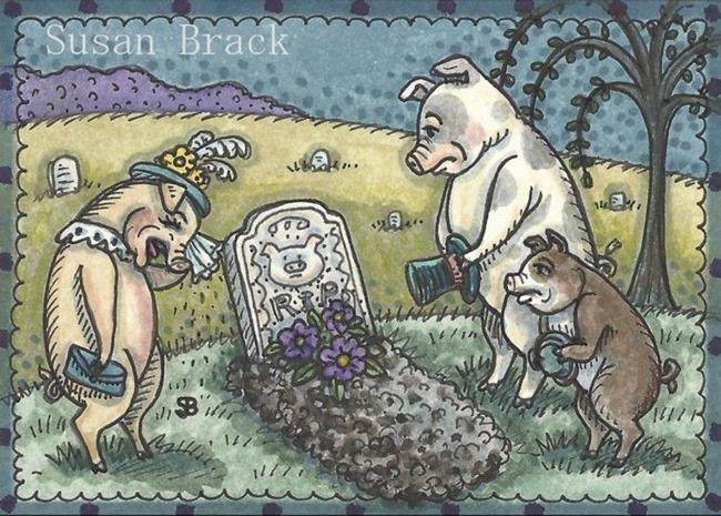 Art: THIS LIL PIGGY WENT TO MARKET by Artist Susan Brack