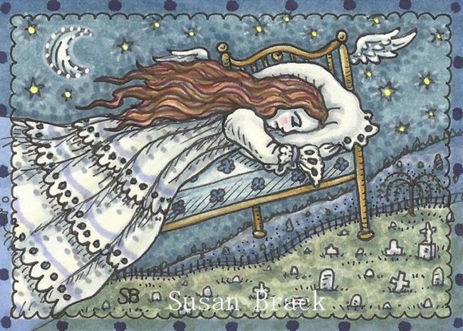 Art: SHE TOOK TO HER BED IN GRIEF by Artist Susan Brack