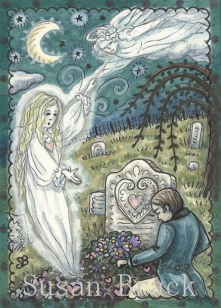 Art: ANGELS ARE CALLING by Artist Susan Brack