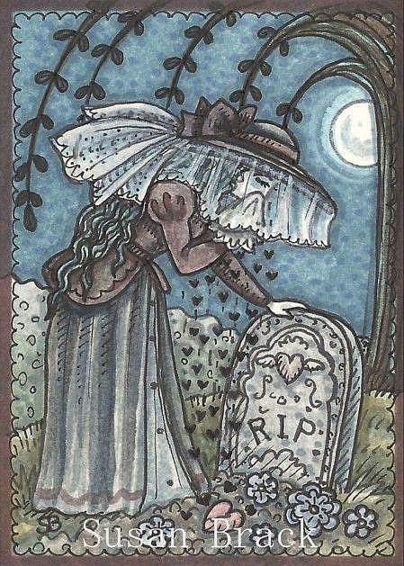 Art: HEART OF A WEEPING WIDOW by Artist Susan Brack