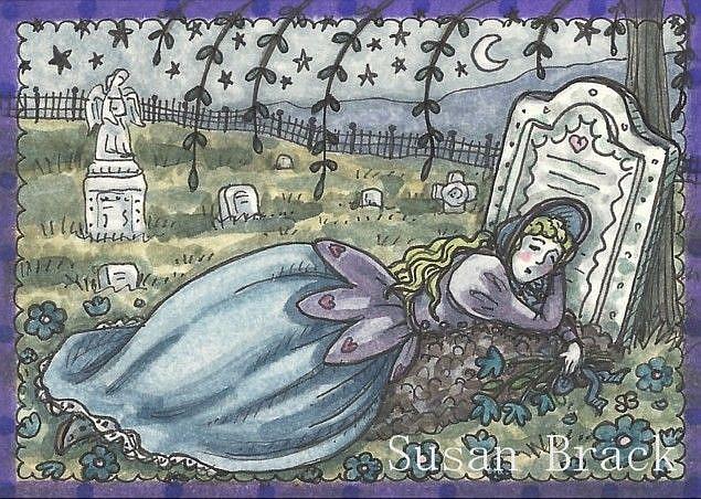 Art: LAY ME DOWN TO SLEEP by Artist Susan Brack