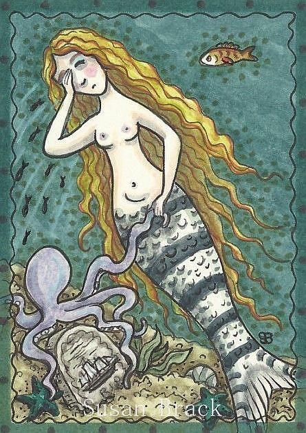 Art: MERMAIDS LAMENT by Artist Susan Brack