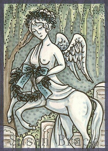 Art: CENTAUR MOURNING ART by Artist Susan Brack