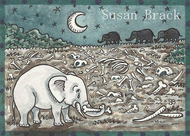 Art: ELEPHANT GRAVEYARD by Artist Susan Brack