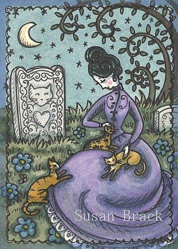 Art: A CAT TO REMEMBER by Artist Susan Brack