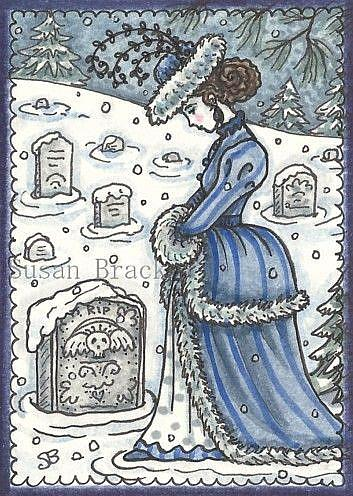 Art: WINTER BLUES by Artist Susan Brack