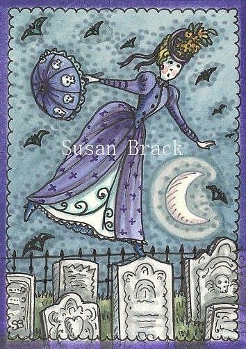 Art: WALK AMONG THE DEAD by Artist Susan Brack
