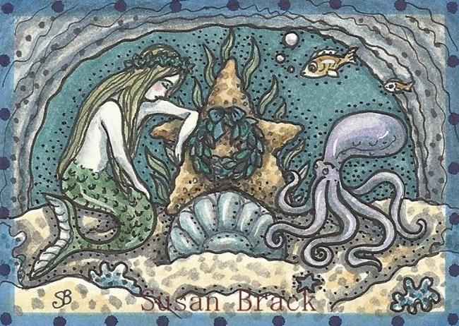 Art: LOST AT SEA ACEO by Artist Susan Brack