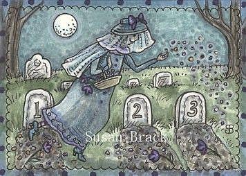 Art: THE MERRY WIDOW by Artist Susan Brack
