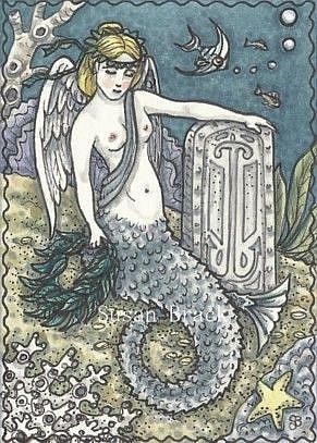 Art: SAILOR'S SEA ANGEL by Artist Susan Brack