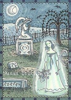 Art: GHOST IN THE CEMETERY by Artist Susan Brack
