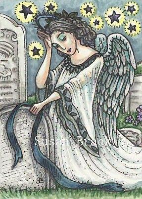 Art: ANGEL OF DEATH by Artist Susan Brack
